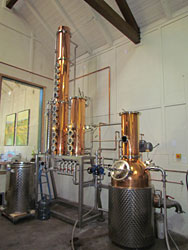 German-made, copper still