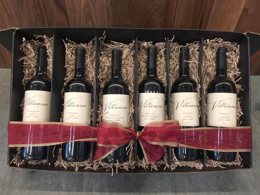 6 Bottle Black Gift Box Villicana Winery Online Store